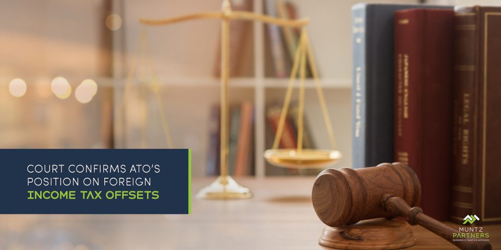 Court confirms ATO's position on foreign income tax offsets