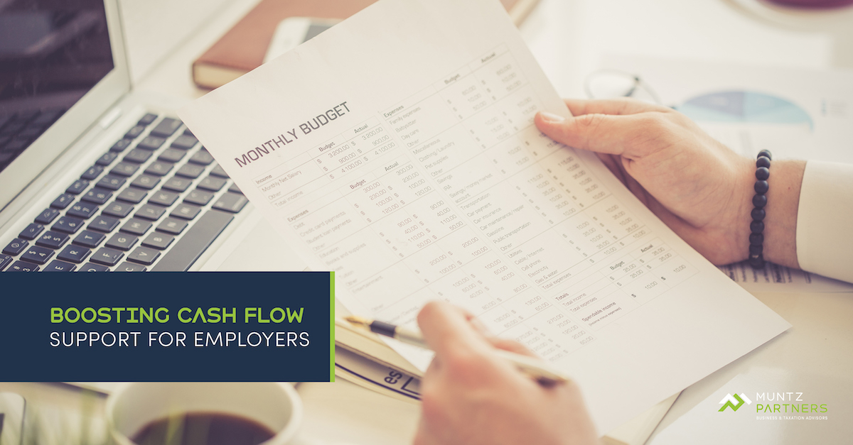 COVID 19 Update: Boosting Cash Flow Support for Employers   Muntz Partners