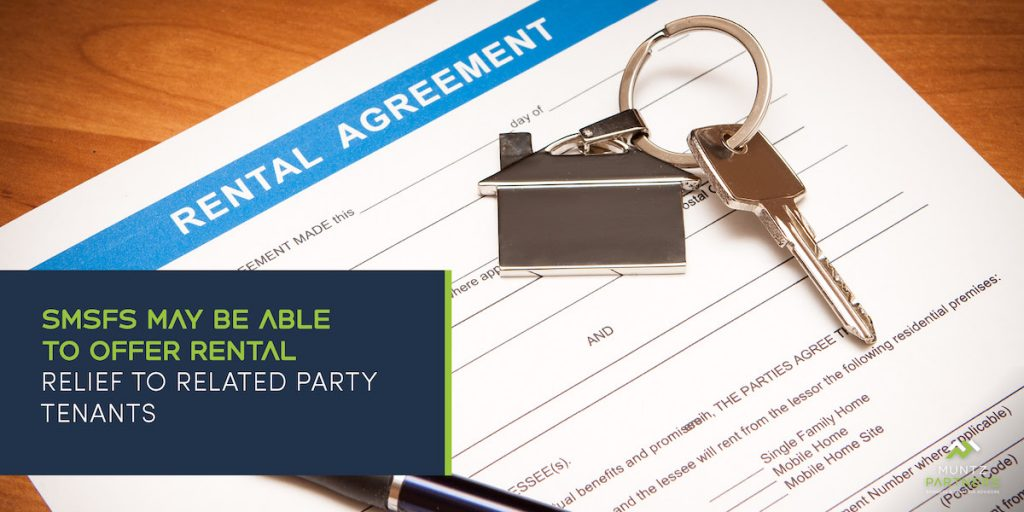 MuntzPartners_SMSFs may be able to offer rental relief to related party tenants