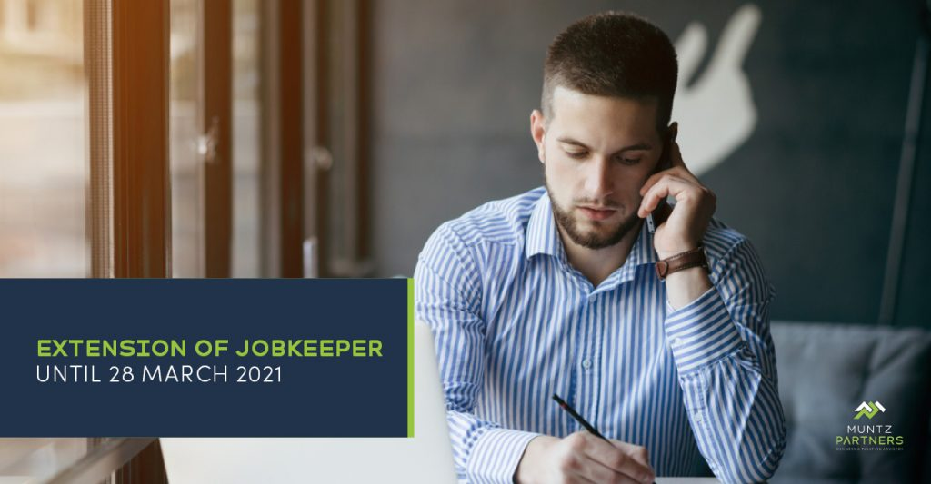 Extension of JobKeeper | Muntz Partners